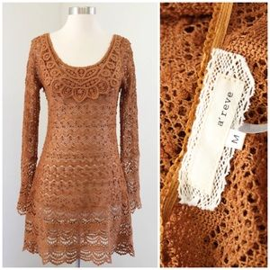 A'reve Sheer Knit Dress / Cover Up
